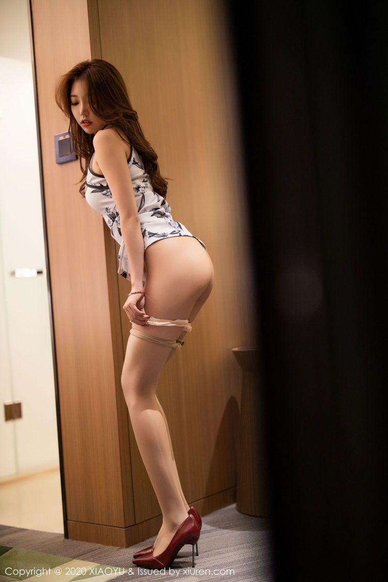 语画界性感女神冯木木LRIS丝袜美腿+古典旗袍如花私房套图